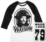 Waylon Jennings- Tour 79 Black Logo (Raglan) T-Shirt