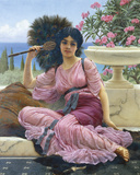 Peacock Fan Giclee Print by John William Godward