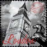 London Stamp Giclee Print by  The Vintage Collection