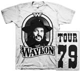 Waylon Jennings- Tour 79 Black Logo (Front/Back) Vêtement