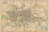 Map of London, 1813 Giclee Print by  The Vintage Collection