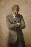 Stocktrek Images - Portrait Painting of President John Fitzgerald Kennedy Obrazy