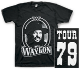 Waylon Jennings- Tour 79 White Logo (Front/Back) T-Shirt