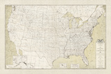 United States Outline Map Giclee Print by  The Vintage Collection