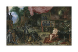 The Five Senses - Touch Premium Giclee Print by Sir Peter Paul Rubens
