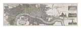 Panoramic Map of London Premium Giclee Print by  The Vintage Collection