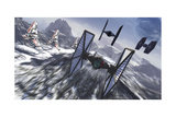 Tie Fighters on Patrol over an Artic Landscape Posters av Stocktrek Images,