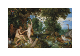 The Garden of Eden with the Fall of Man, c.1615 Premium Giclee Print by Sir Peter Paul Rubens