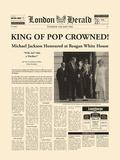 King Of Pop Crowned Giclée-tryk af The Vintage Collection