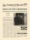 King Of Pop Crowned Giclée-Druck von  The Vintage Collection