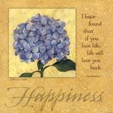 Happiness - Hydrangea Poster von Stephanie Marrott