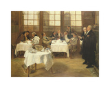 The Plaintiff - Defendant Premium Giclee Print by Walter Dendy Sadler