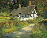 Timbered Cottage Giclee Print by Norman Coker