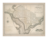 Plan of Washington Premium Giclee Print by  The Vintage Collection