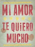 Te Quiero Mucho Giclee Print by Clara Wells