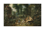 The Five Senses - Smell Premium Giclee Print by Sir Peter Paul Rubens