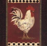 Weißer Hahn Kunstdrucke von Stephanie Marrott