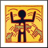 Haring - Untitled October 1982 Private Collection Mounted Print by Keith Haring