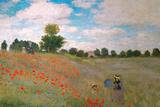 Claude Monet - The Poppy Field Posters av Claude Monet