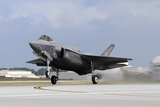 An F-35A Taking Off from Eglin Air Force Base, Florida Photographic Print by  Stocktrek Images