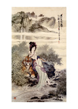 Chinese Art- Lady With Tiger Posters