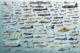 Evolution Military Aircraft Posters
