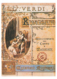Giuseppe Verdi- Rigoletto Playbill Posters