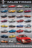 Ford: Mustang- 50 Years Of Evolution Prints