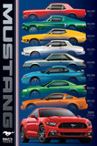 Ford: Mustang- 50 Years 9 Types Plakaty