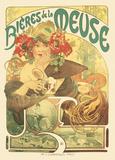 Alphonse Mucha- Meuse Beer Poster di Alphonse Mucha
