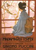 Leopoldo Metlicovitz- Vintage Madama Butterfly (Italain) 高画質プリント : レオポルド・メトリコヴィッツ