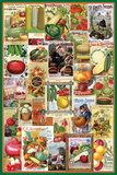 Vegetables Seed Packet Collage Posters