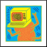 Untitled Pop Art Mounted Print by Keith Haring