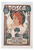Leopoldo Metlicovitz- Vintage Puccini Tosca (Italian) Posters by Leopoldo Metlicovitz