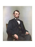 Painting of President Abraham Lincoln Sitting in Chair Prints by  Stocktrek Images
