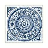 Indigo Medallion V Prints by  Vision Studio
