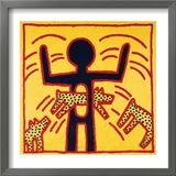 Haring - Untitled October 1982 Private Collection Framed Giclee Print by Keith Haring