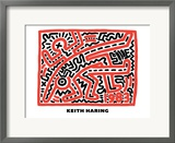 Untitled Pop Art Framed Giclee Print by Keith Haring