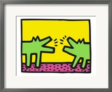 Pop Shop (Dogs) Framed Giclee Print by Keith Haring