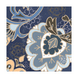 Paisley Blossom Blue II Poster by Leslie Mark
