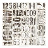 Weathered Numbers II Art by Jarman Fagalde