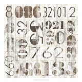 Weathered Numbers I Posters by Jarman Fagalde