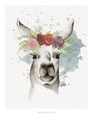 Llama Flora II Prints by Grace Popp