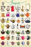 Teapots Collage Print