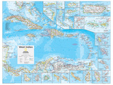 2014 West Indies - National Geographic Atlas of the World, 10th Edition Affiches par  National Geographic Maps