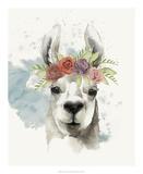 Llama Flora I Print by Grace Popp