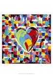 Mosaic Heart I Art by Carolee Vitaletti