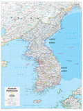 2014 Korean Peninsula - National Geographic Atlas of the World, 10th Edition Prints by  National Geographic Maps