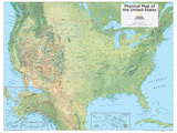 2014 United States Physical - National Geographic Atlas of the World, 10th Edition Posters by  National Geographic Maps