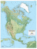2014 North America Physical - National Geographic Atlas of the World, 10th Edition Poster by  National Geographic Maps